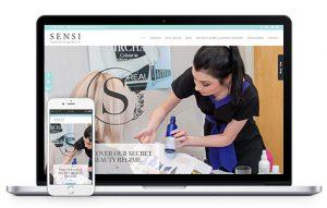 Sensi Holistic Beauty Website Mockup
