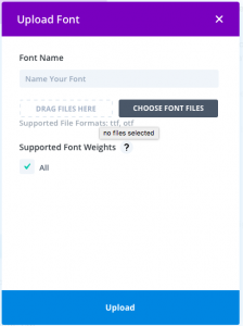 upload your one fonts