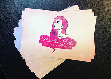 Priscilla Helie Hair Business Cards